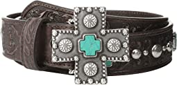 Turquoise Cross Studded Belt