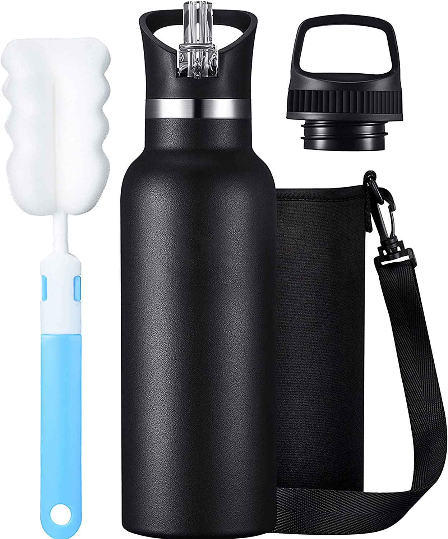 Botella Agua Acero Inoxidable, Botella Termica 500mL, Cantimplora Termo con Doble Aislamiento para 20 Horas de Bebida Caliente y 24 Horas de Bebida Fría, Sin BPA, para Niños & Adultos, Oficina, Yo