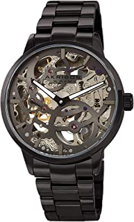 Skeleton Men's Watch – Automatic Mechanical Wristwatch See Through Dial on Stainless Steel Bracelet - AK1078