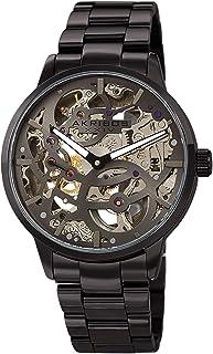 Akribos XXIV Skeleton Men's Watch – Automatic Mechanical Wristwatch See Through Dial on Stainless Steel Bracelet - AK1078