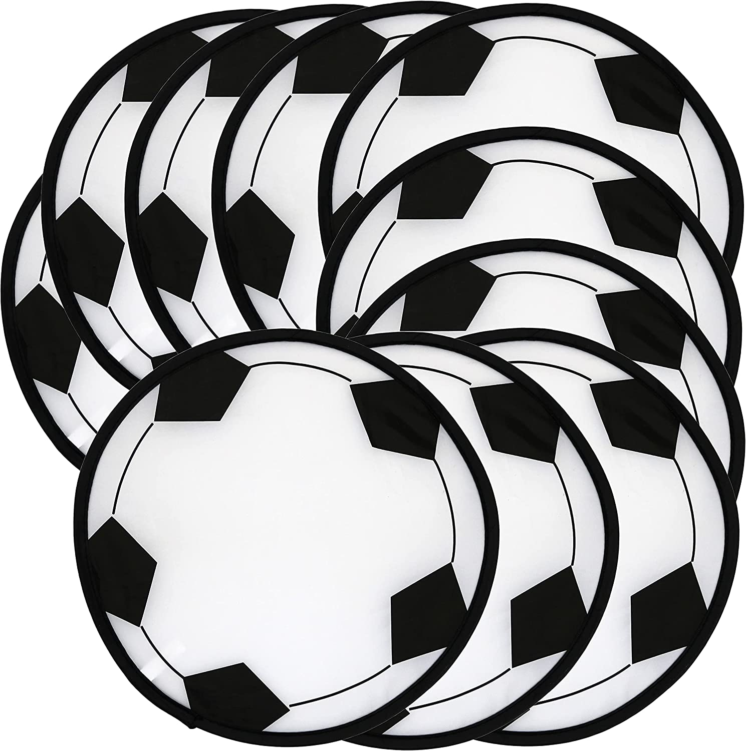 Iconikal Foldable Online limited product Flying Pocket Futbol Soccer Disk Safety and trust 10.5-inch