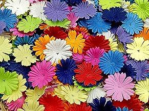 NAVA CHIANGMAI 100 pcs Daisy Mulberry Paper Flower Petals Artificial Craft Scrapbooking Embellishment,Wedding Supply Acces...