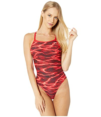 TYR Lambent Diamondfit One-Piece (Red) Women
