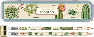 Cavallini Papers & Co., Inc. PS/SUC Succulents Pencil Set 10 Pencils, 1 Sharpener