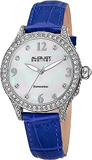 August Steiner Womens Quartz Watch, Analog Display and Leather Strap AS8188BU
