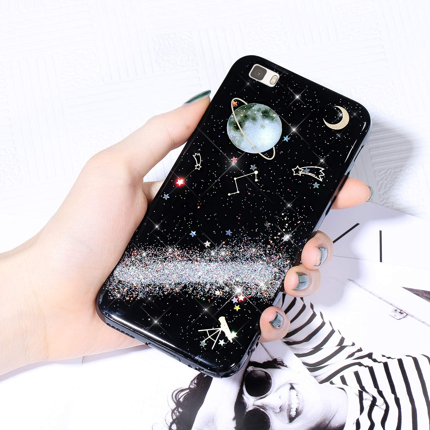 Case for Huawei P8 Lite Glitter Sparkle Industry No. 1 Starry Shiny Fixed price sale Cover