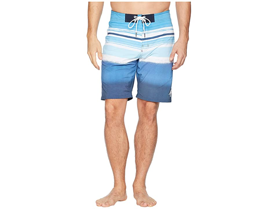 Toes on the Nose Bondi Stripe Boardshorts (Navy) Men's Swimwear