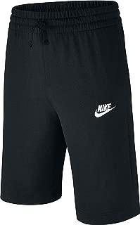 NIKE Sportswear Boys' Jersey Shorts, Black/White, X-Large