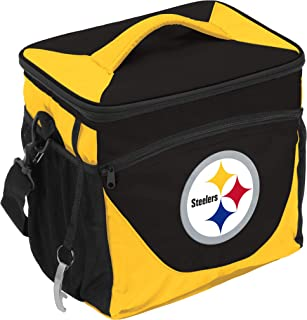 Logo Brands NFL Pittsburgh Steelers 24 Can Cooler, One Size, Black