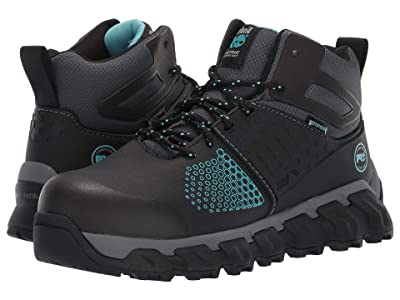Timberland PRO Ridgework Composite Safety Toe Waterproof Mid (Black Ever-Guard Leather) Women