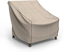 Budge P1W04PM1 English Garden Patio Chair Cover Heavy Duty and Waterproof, Extra Large, Tan Tweed