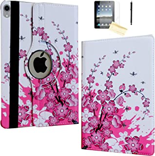 JYtrend Case for iPad Pro 11 Inch 2018, [Support Pencil Charging] Rotating Stand Smart Case Magnetic Auto Wake Up/Sleep Cover for iPad Pro 11 Model A2013 A1980 A1979 A1934 (Pink Cherry Blossom)