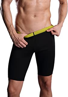 Ausom Mens Thermal Slimmer High- Waist Sudatory Fat- Burning Half Pants Shorts for Body Shaping and Weight Loss