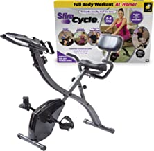 As Seen On TV Slim Cycle Stationary Bike by Bulbhead, Most Comfortable Exercise Machine, Thick, Extra-Wide Seat & Back Sup...