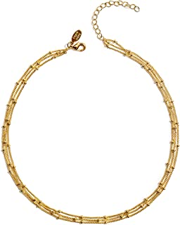 Best dainty choker necklace gold Reviews