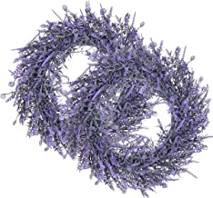 UltraOutlet 2 Pack Door Wreath for All Seasons 17 in Artificial Lavender Wreaths for Front Door Spring Summer Year Round (...