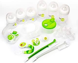 Avima Baby 22 Piece Newborn Feeding Bottle Gift Set. Anti-Colic Wide Neck Bottles with Stage 1 & 2 Nipples