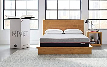 Rivet Queen Mattress – Celliant Cover, Responsive 3-layer Memory Foam for Support and Better Overnight Recovery, CertiPUR Certified, 100% USA-made, Bed in a Box, 100-Night Trial