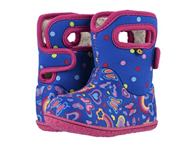 Bogs Kids Baby Bogs Rainbows (Toddler) (Blue Multi) Girls Shoes