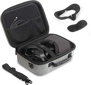 JSVER Reistas voor Oculus Quest Hard Shell EVA All-in-one VR Gaming Headset Case Beschermende doos met schouderriem (grijs)