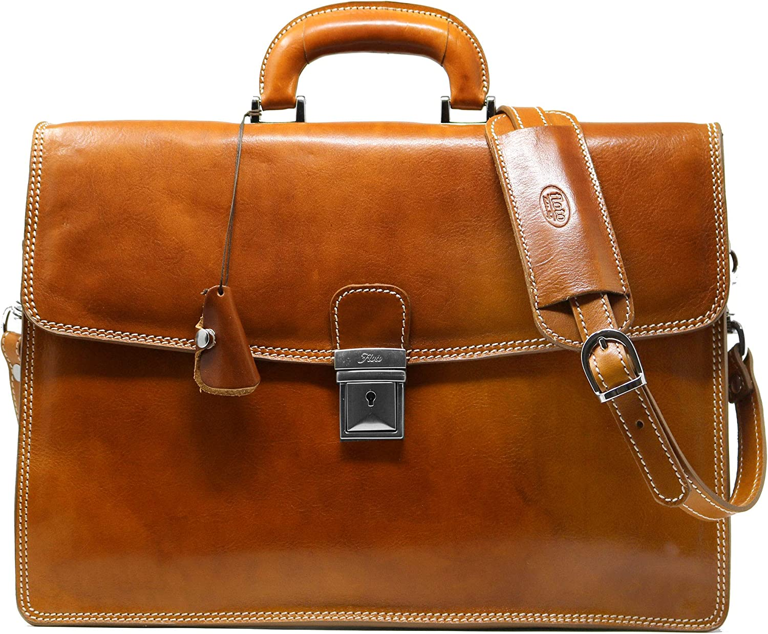 Floto NEW Popularity before selling Full Grain Leather Milano Attache O Case Briefcase Laptop