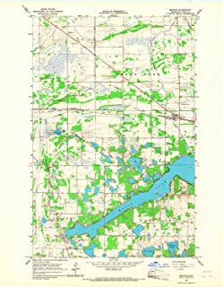 YellowMaps Mentor MN topo map, 1:24000 Scale, 7.5 X 7.5 Minute, Historical, 1966, Updated 1967, 27.2 x 21.2 in