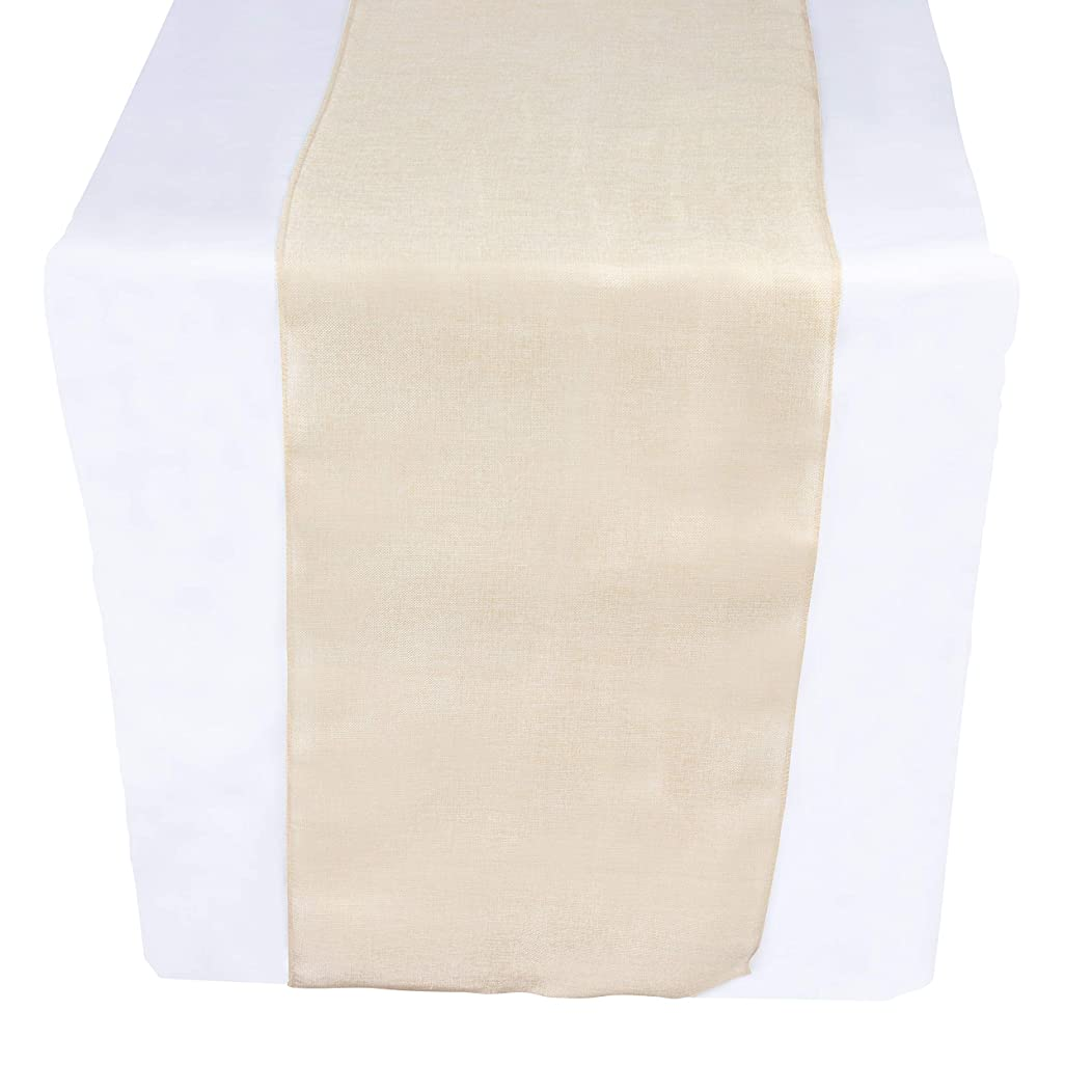 Linen Table Runner - 10 Yards x 17.7 Inches Beige Fabric Table Runner