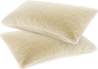 Lana & Co - Fundas de almohada y fundas de almohada en pura lana virgen Merino cm. 45x75