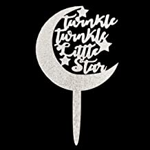 Twinkle Twinkle Little Star Cake Topper, Baby Shower Cake Topper, Moon and Stars Boy or Girl Gender Reveal Party Decoration