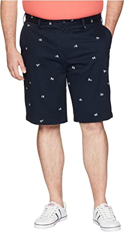 Big & Tall Printed Flag Shorts