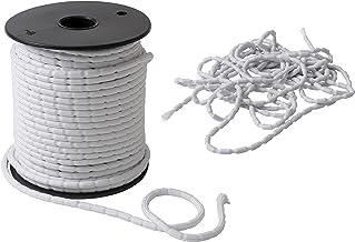IPEA Lood vlechtwerk - 5 meter - lood koord voor gordijnen, stof - verschillende grammages - gewicht - kleur wit - 100 g/m