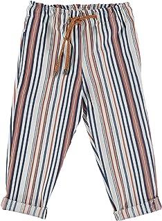 MANUELL&FRANK Pantalón largo de mezcla de lino a rayas para niño, MF1194B