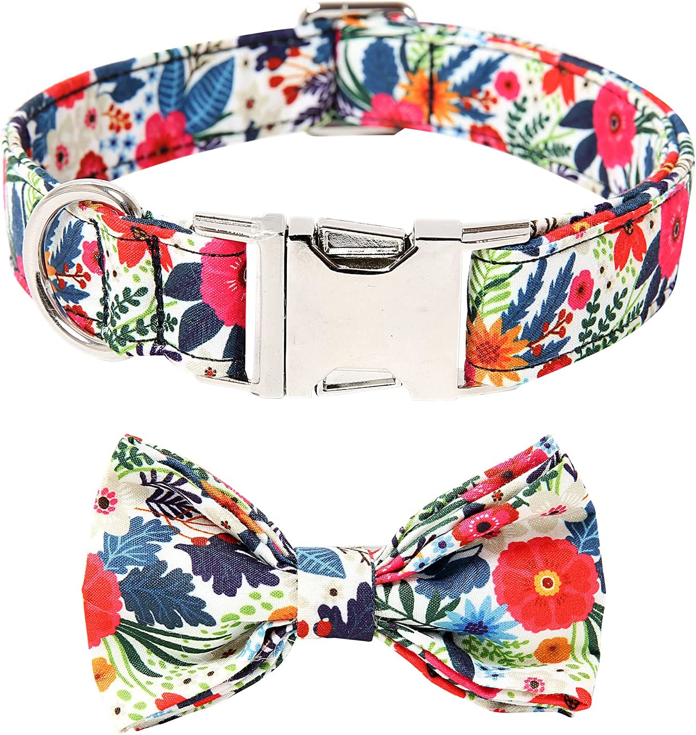 Timos Dog Genuine Collars with Bowtie Sma Cute In stock Collar for Adjustable
