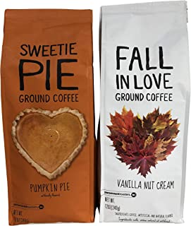 Paramount Roasters Coffee Bundle -- Fall In Love Vanilla Nut Cream and Sweetie Pie Pumpkin Pie (Ground, 12 oz each)