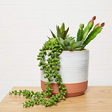 Artificial Hanging Succulent Plant - Hanging String of Pearl 5 Pieces - Home Kitchen Office Bath Decor - Fake Succulents, Pla