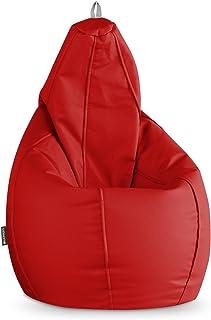 HAPPERS Puff Pera Polipiel Indoor Rojo XL