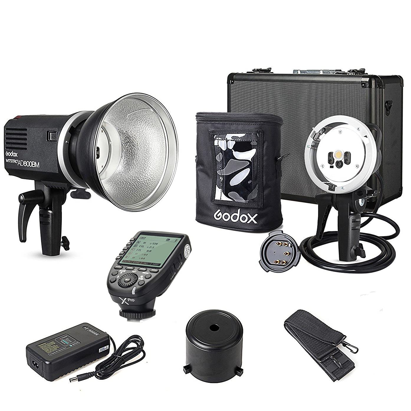 EACHSHOT Godox AD600BM Canon Kit {Including XPro-C Transmitter, AD-H600B Mount, AD-R6 Reflector, PB-600 Bag} 1/8000s Non-TTL Manual 600W Outdoor Flash Light Bowens Mount for Canon