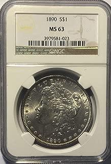 1890 P Silver Morgan Comes in Velvet Gift Bag Dollar MS-63 NGC