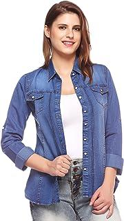 Fasnoya Women's Shirt (shi58p-xl_Blue_X-Large)
