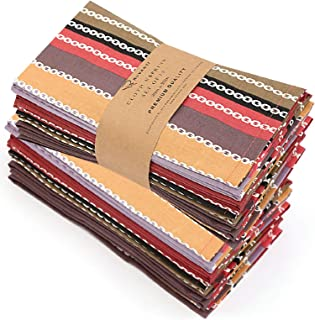 "Ruvanti Cloth Napkins 12 Pack(100% Cotton 20""X20"") Dinner Napkins,Soft&Comfortable Cotton Napkins. Red Salsa Stripe Colorful Linen Napkins for Family Dinners,Weddings,Cocktail Parties & Home Use."