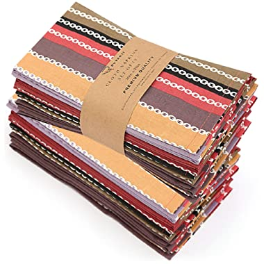 Ruvanti Cloth Napkins 12 Pack(100% Cotton 20 X20 ) Dinner Napkins,Soft&Comfortable Cotton Napkins. Red Salsa Stripe Colorful Linen Napkins for Family Dinners,Weddings,Cocktail Parties & Home Use.