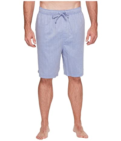 Nautica Big & Tall Big Tall Herringbone Sleep Shorts (Blue Bone) Men