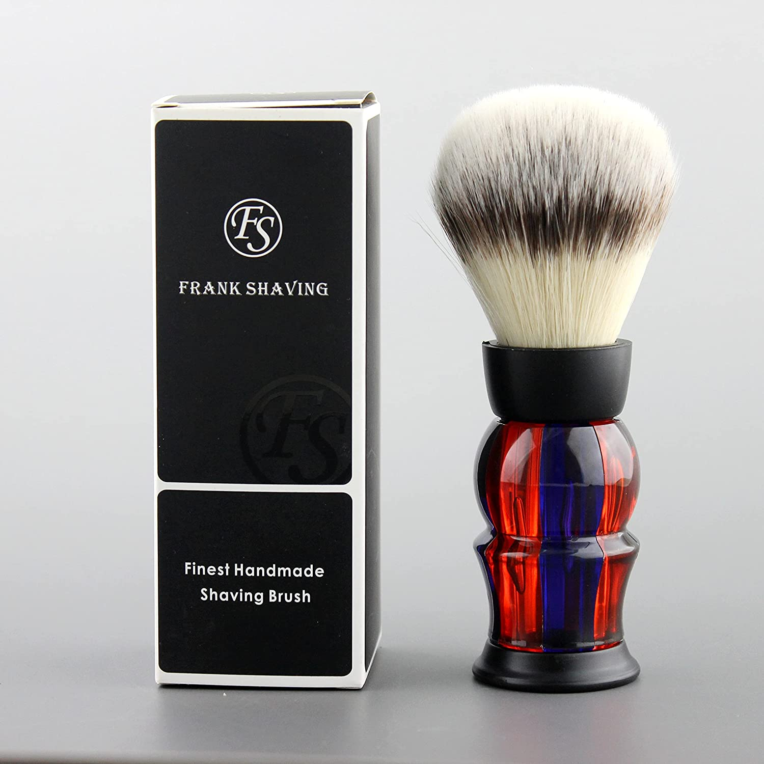 Frank shaving Vintage Easy-to-use National uniform free shipping G4 synthetic hair knot brush size