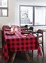 Airwill, 100% Cotton Christmas Color Handloom Checks Weaved Designed Table Cloth 60x90 inches, for Big Size Rectangle Table Cloth.