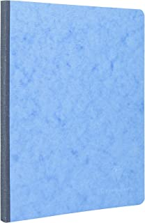 Clairefontaine 19 x 25cm Age Bag Essential Cloth Bound Notebook, Lined, 192 Pages, Blue