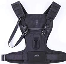 Nicama Camera Carrying Chest Harness Vest with Secure Straps Compatible with 1 Camera Canon Nikon Sony Panasonic Olympus DSLR