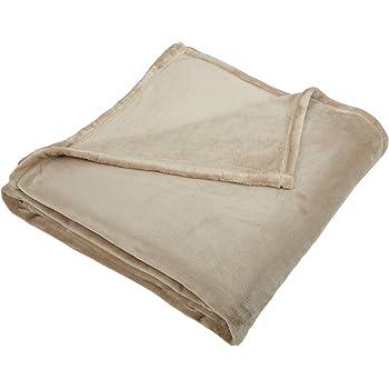 Pinzon Velvet Plush Blanket - Full or Queen, Sand