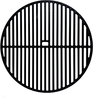 nobrand BBQ Grill Grate 18-inch Matt Cast Iron Round Cooking Grate Replacement for Kamado Joe Classic, Large Big Green Egg...