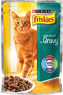 Purina Friskies with Duck In Gravey Cat Food Single Serve Pouch, 100g