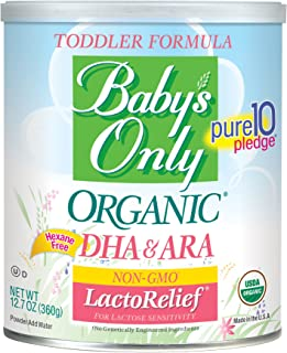Babys Only Organic Toddler Formula - USDA Organic - LactoRelief - Lactose Free - 12.7 oz - Iron Fortified